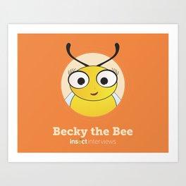 Becky the Bee Art Print