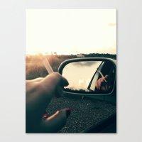 cigarette Canvas Prints featuring Cigarette  by Mis Soula
