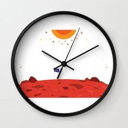 Mars Exploration Wall Clock