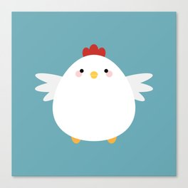 White Chicken Canvas Print
