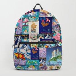 Fantasyland Vintage Attraction Posters Backpack
