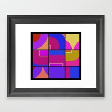 Colorful Squares Framed Art Print