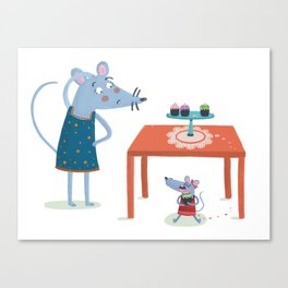 Missing cupcake Canvas Print