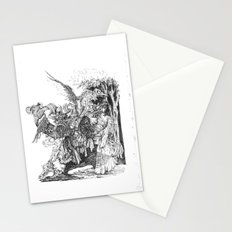 walking dead dream Stationery Cards