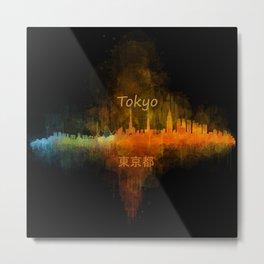 Tokyo City Skyline Hq V4 Metal Print