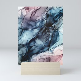 Blush and Darkness Abstract Paintings Mini Art Print
