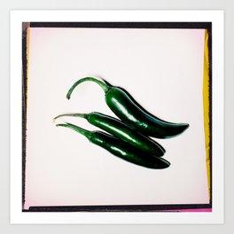 Hot (Peppers) Art Print