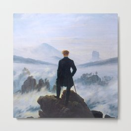 "Caspar David Friedrich ""Wanderer above the sea of fog"" Metal Print"