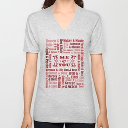 Great Couples in History Unisex V-Neck