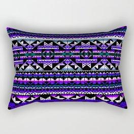 aztec geo in deep purple Rectangular Pillow