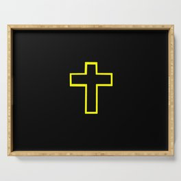 Christian Cross 18 Serving Tray