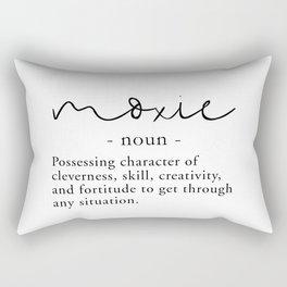Moxie Definition - Minimalist Black Rectangular Pillow