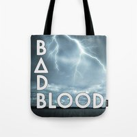 bastille Tote Bags featuring Bastille - Bad Blood #2 by Thafrayer