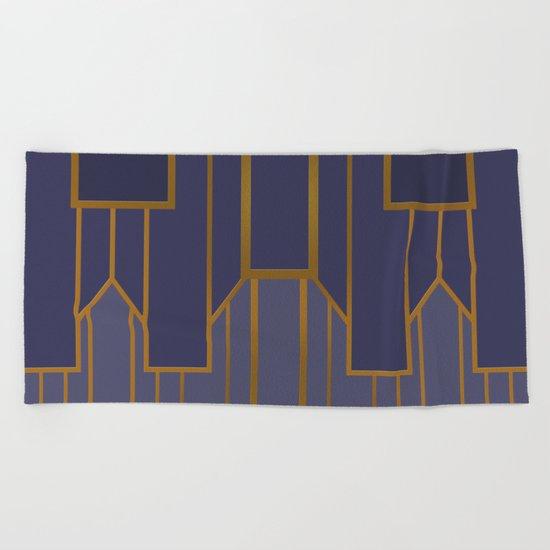 ART DECO G3 (abstract artdeco geometric) Beach Towel