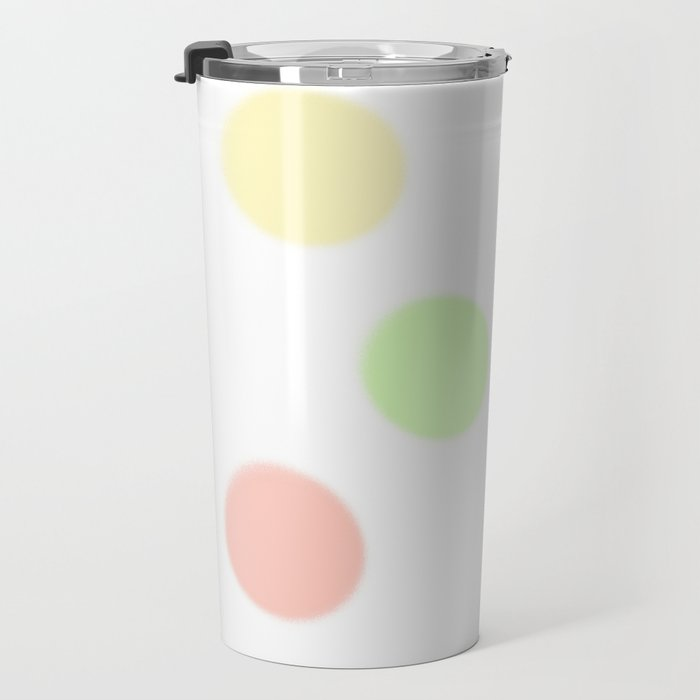 art, colors, circles, abstract, young design, forever 16 Travel Mug