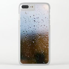 Rainy Window Clear iPhone Case