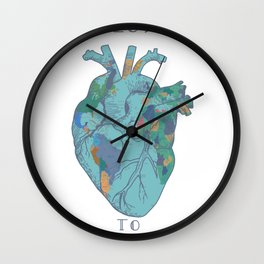 love to travel-world map Wall Clock