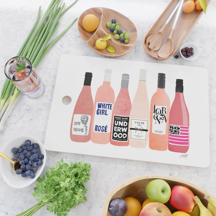 Rose Bottles Cutting Board