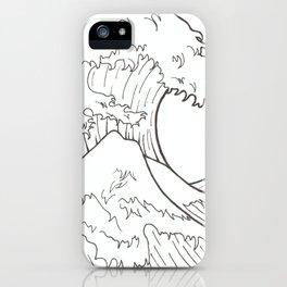 The wave of Kanagawa iPhone Case
