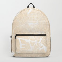 Amsterdam Gold on White Street Map II Backpack
