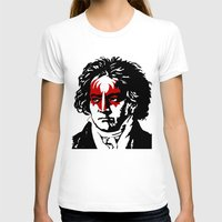 beethoven T-shirts featuring Beethoven Rock by futbolko