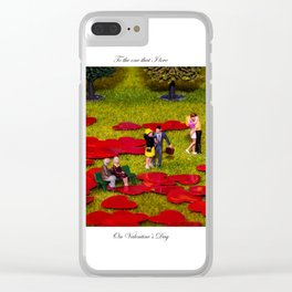 Love Is All Around Valentine Special Clear iPhone Case