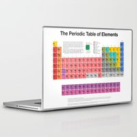periodic table Laptop & iPad Skins featuring The Periodic Table of Elements by moleculestore