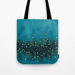 Blue Rift Galaxy (8bit) Tote Bag
