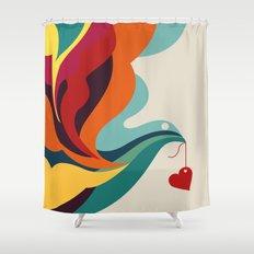 Love Message Shower Curtain