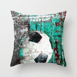 Soccer ball vs 9 Throw Pillow
