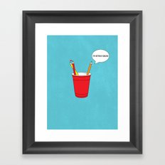 Get a Cup You Two ! Framed Art Print