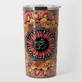 Pug Yoga Mandala Travel Mug