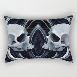 biomech skull 10 Rectangular Pillow