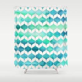 Ocean Rhythms and Mermaid's Tails Shower Curtain