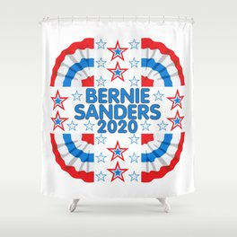 Bernie Sanders 2020 Red White Blue Banner Shower Curtain
