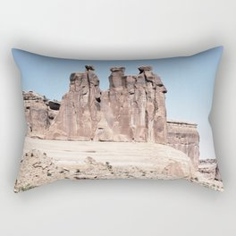 Three Gossips Formation Arches National Park Utah Old Mammoth Road Rectangular Pillow