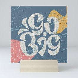 Go Big - Blue Mini Art Print