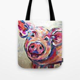 Happy Pig Art Tote Bag