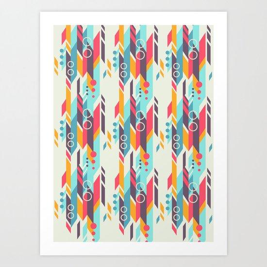 Geometri pattern Art Print