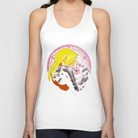 fullmetal Tank Tops featuring YELLOW HAIR ALCHEMIST by BradixArt