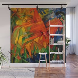 """Franz Marc """"Animals in a Landscape"""" Wall Mural"""