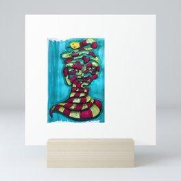 snake charmer Mini Art Print