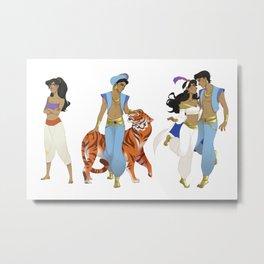 Genderbend Aladdin Metal Print
