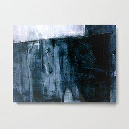 Indigo Color Field Abstract Metal Print