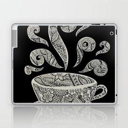 But first, Coffee - tea coffee lover zentangle Laptop & iPad Skin