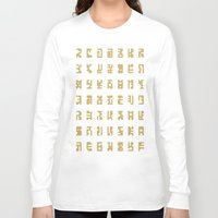 sci fi Long Sleeve T-shirts featuring Sci-Fi Glyphs by Lestaret