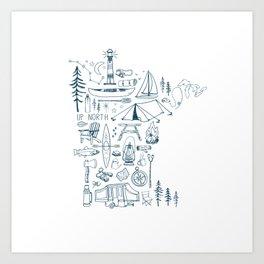Minnesota Up North Collage Art Print