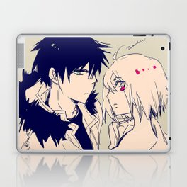 Blue eyes and red eyes Laptop & iPad Skin