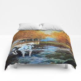 Living in a Van Down by the River Comforters