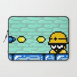 Minion's Last Rites: Mega Man's Metool Laptop Sleeve